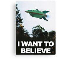 I Want To Believe - Futurama Canvas Print