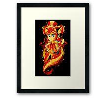 LoE: Sunset Shimmer Framed Print