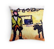 Wildago's Man and Dog in Portugal Throw Pillow