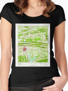 USGS TOPO Map Arkansas AR Conway 260017 1961 62500 Women's Fitted Scoop T-Shirt