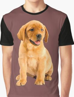 Oil Painting of a Cute Red Labrador Retriever Puppy Portrait  Graphic T-Shirt