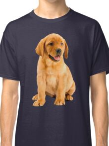 Oil Painting of a Cute Red Labrador Retriever Puppy Portrait  Classic T-Shirt