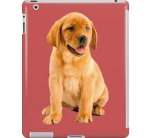 Cute Oil Painting of a Red Labrador Retriever Puppy  iPad Case/Skin