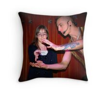 The Spoon Bender Throw Pillow