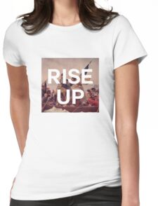 Rise Up - George Washington - inspired by Hamilton Musical Womens Fitted T-Shirt