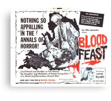 Blood Feast - Poster Canvas Print