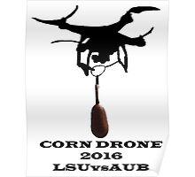Corn Drone LSU vs Auburn Poster