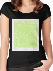 USGS TOPO Map Arkansas AR Wesson 259841 1971 24000 Women's Fitted Scoop T-Shirt