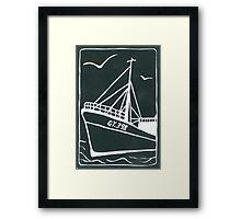 Ross Tiger in Grey Framed Print