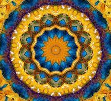 Kaleidoscope N0. 7 - Blue and Tan Sticker