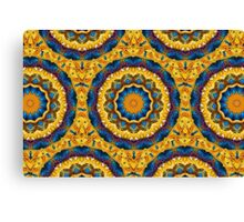 Kaleidoscope N0. 7 - Blue and Tan Canvas Print