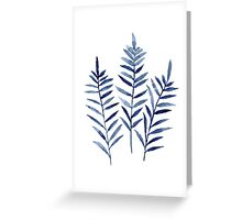 Fern Blue Botanical Watercolor Painting Image Picture Drawing Greeting Card