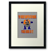 Orange Bane Framed Print