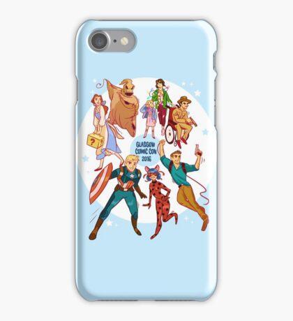 Glasgow Comic Con (Blu)  iPhone Case/Skin