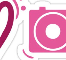 'I Love Photography' - Purple / Pink Photography Graphic Sticker