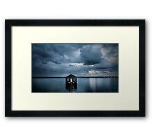 A Little Blue Boatshed Framed Print