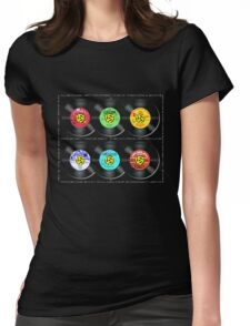 A tribute to square dance record labels Womens Fitted T-Shirt