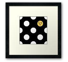 Where is my emoji? Framed Print