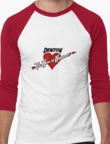 Denton - The Home of Happiness Men's Baseball ¾ T-Shirt