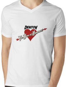 Denton - The Home of Happiness Mens V-Neck T-Shirt