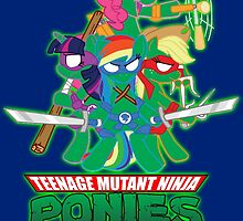 Teenage Mutant Ninja Ponies by kerakas