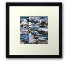 Rocky Coast Blue Waves Framed Print