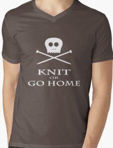 Knit or Go Home Mens V-Neck T-Shirt