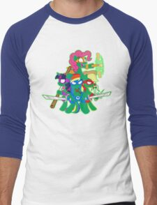 Teenage Mutant Ninja Ponies Men's Baseball ¾ T-Shirt
