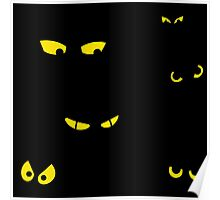 Spooky Eyes : Halloween Horror Cartoon Art Poster
