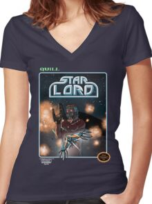 Star Soldier Women's Fitted V-Neck T-Shirt