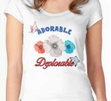ADORABLE DEPLORABLE DONALD TRUMP HILLARY CLINTON WOMEN'S RED WHITE BLUE Women's Fitted Scoop T-Shirt