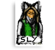 Sly Fox Painted Canvas Print