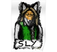Sly Fox Painted Poster