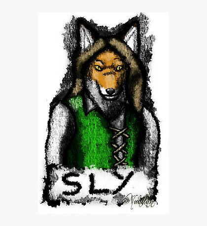 Sly Fox Painted Photographic Print