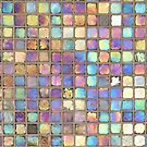 Iridescent glass mosaic gold/multicolored by knititude