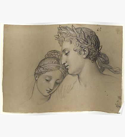 Study Of Heads For Study For Castor And Pollux Freeing Helen , Joseph-Ferdinand Lancrenon Poster