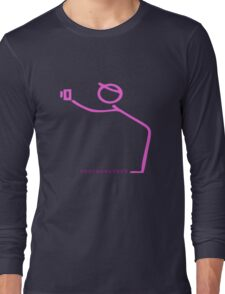 Hot Pink Photographer Graphic Long Sleeve T-Shirt