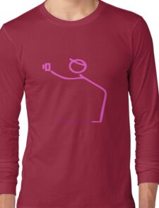 Hot Pink Photographer Graphic Long Sleeve T-Shirt