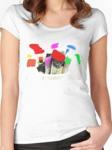 Pot of Many Colours Women's Fitted Scoop T-Shirt
