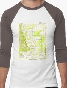USGS TOPO Map Arkansas AR Doddridge SE 258350 1952 24000 Men's Baseball ¾ T-Shirt
