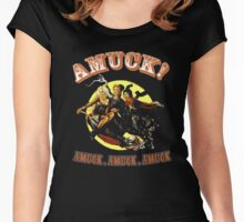 Halloween t-shirt Amuck Amuck Amuck 3 witches fly Women's Fitted Scoop T-Shirt