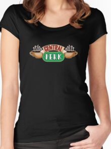 Friends - Central Perk White Outline Variant Women's Fitted Scoop T-Shirt