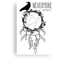 Nevermore Raven Edgar Allan Poe Canvas Print