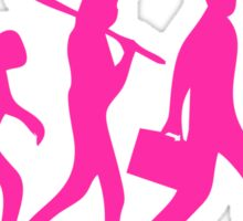 Hot Pink Evolution of Photography Graphic Sticker