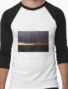 Dark glowing cloud  Men's Baseball ¾ T-Shirt