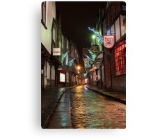 The Shambles Christmas Canvas Print