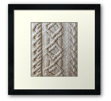 Fisherman cable knit Framed Print