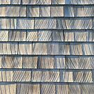 Weathered cedar shingles by knititude