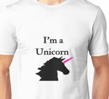 I'm a Unicorn Photo 2 Black Pink Horn Unisex T-Shirt