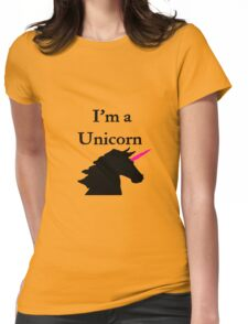 I'm a Unicorn Photo 2 Black Pink Horn Womens Fitted T-Shirt